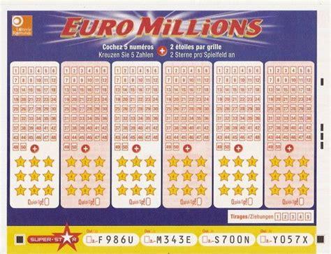 Euromillion Grille by Grille Euromillions De La Suisse