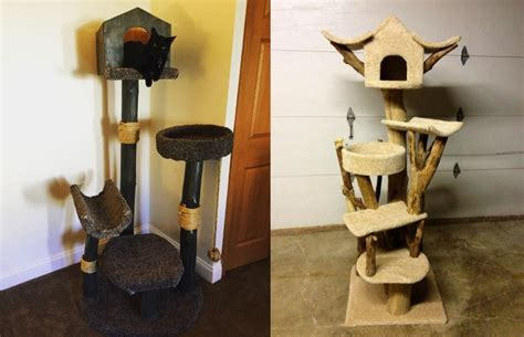 cat tree house this diy pet treehouse keeps your cat s jungle instincts in mind
