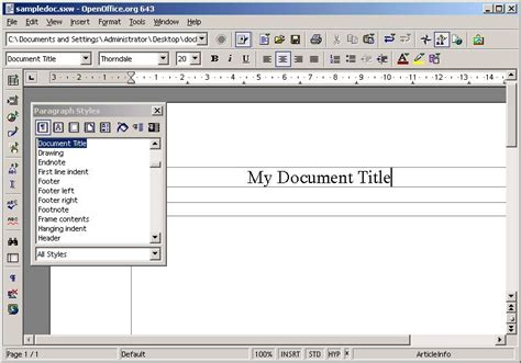 getting started with docbook on openoffice