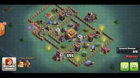 layout defense coc th6 coc th6 best builder base defense layout youtube