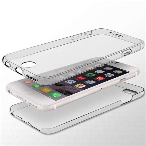 Casing Baseus Jelly Shockproof Silicone Iphone 8 Iphone 7 shockproof 360 176 silicone protective clear cover for apple iphone 7 6s plus ebay