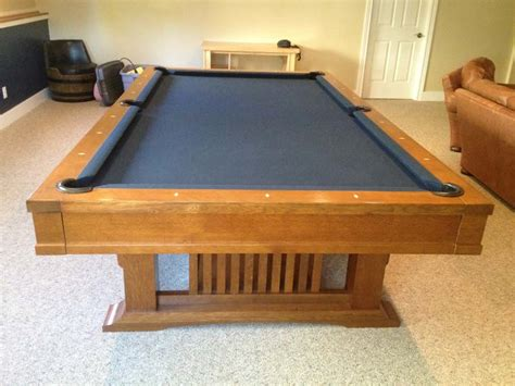 Brunswick Mission Pool Table For Sale