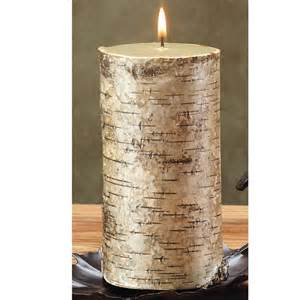 Bedroom Slippers For Men birch bark 3x6 pillar candle