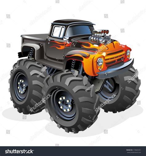 shutterstock stock bigfoot monster vector cartoon monster truck stock vector 119665351