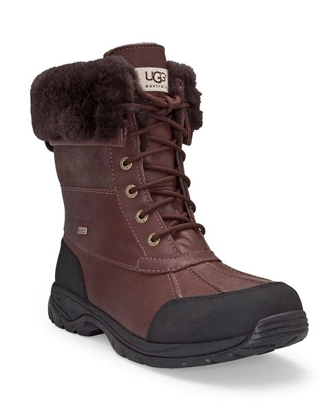 mens butte ugg boots ugg mens butte waterproof leather boots in brown for