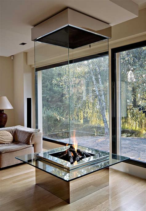 glass enclosed fireplace 50 best modern fireplace designs and ideas for 2018