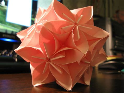 How To Make Flower Paper Balls - flower origami