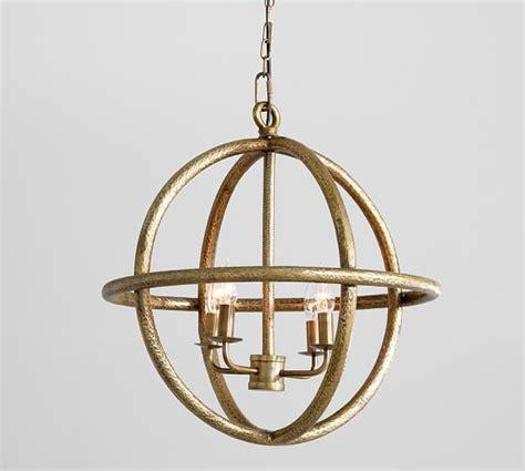 pottery barn lighting pendant gold sphere pendant pottery barn