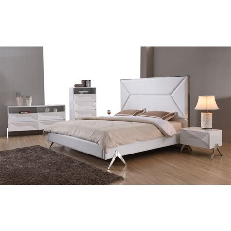 Bedroom Furniture Modrest Candid Modern White Bedroom Set Modern Bedroom