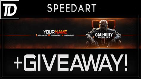 Adobe Max 2017 Giveaway - bo3 youtube banner giveaway photoshop speed art