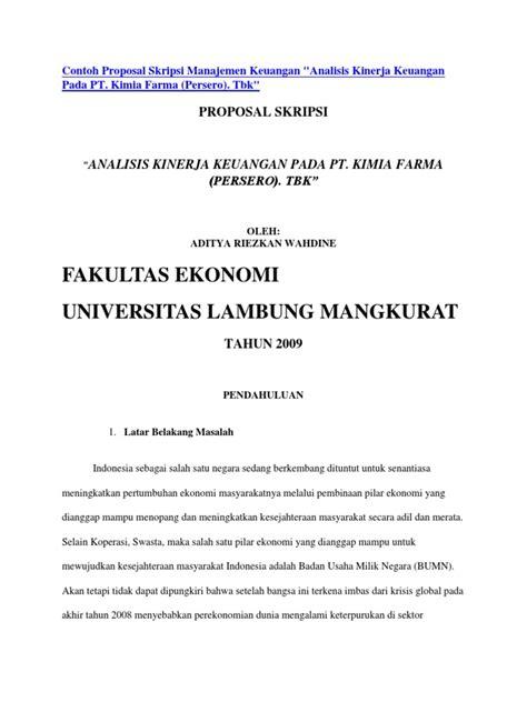 Skripsi Akuntansi Keuangan Doc | contoh proposal skripsi manajemen keuangan