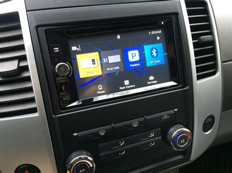blossom installations nissan frontier  sony touchscreen  tailgate camera