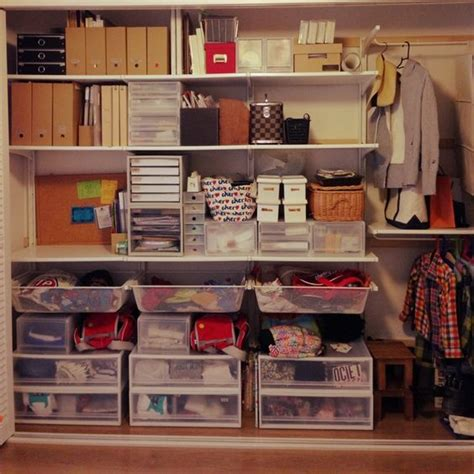 Ikea Organization Hacks クローゼット収納 ダイソー 100均 収納 整理収納部 無印良品 などのインテリア実例 2014 06 27 15