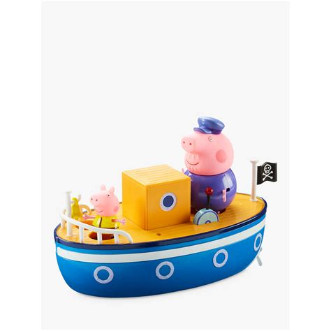 bath boat peppa pig grandpa pig bath boat at john lewis