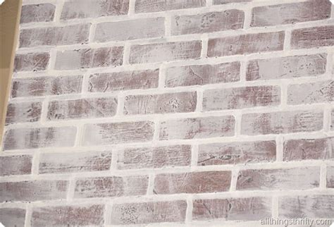 how to install faux brick panels and how to paint and distress it to look weathered and white