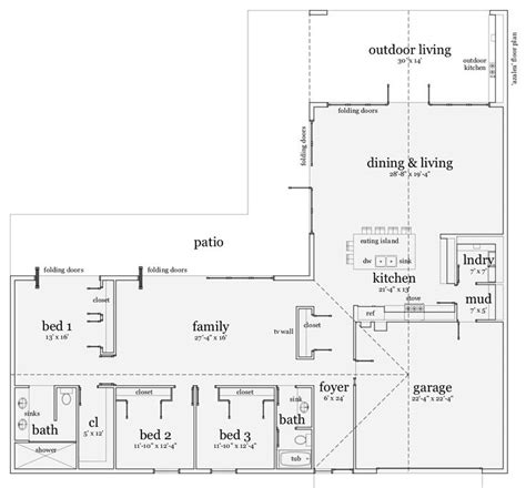L Shaped Ranch Style House Plans by L Shaped Ranch Style House Plans