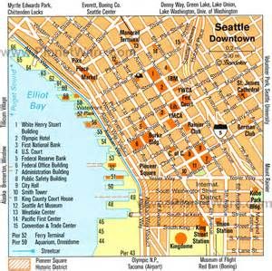 Map Downtown Seattle downtown seattle map seattle pinterest