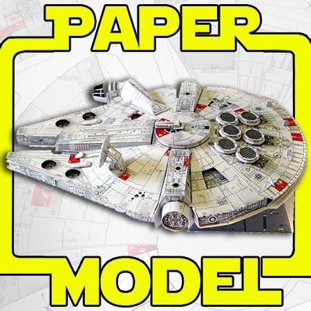 millennium falcon paper model that daily deal