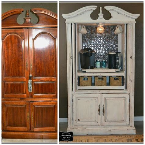 armoire turned coffee bar for the home the