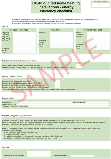 florida hvac efficiency card template certificates everycert