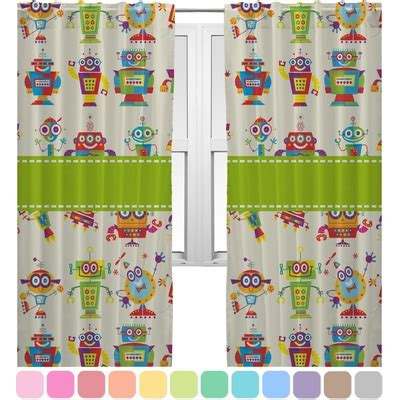 robot curtains rocking robots curtains 20 quot x54 quot panels unlined 2