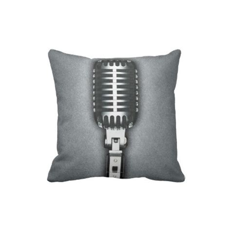 Pillow Microphone by Wilcox Sound Vintage Microphone Throw Pillow Wilcox