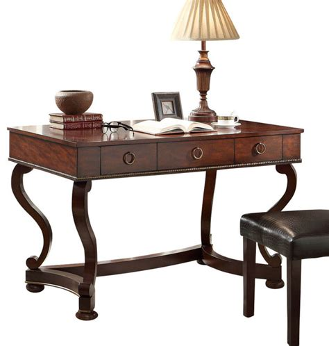 maule 3 drawer writing desk cherry traditional desks