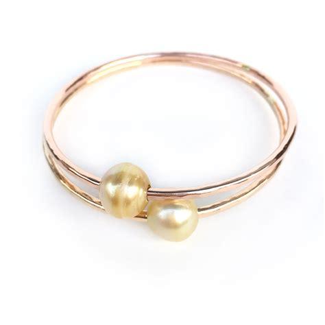 south hill design bracelet golden south sea pearl bangle bracelet aloha bangles
