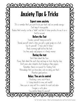 printable anxiety quiz worksheet test anxiety worksheets hunterhq free