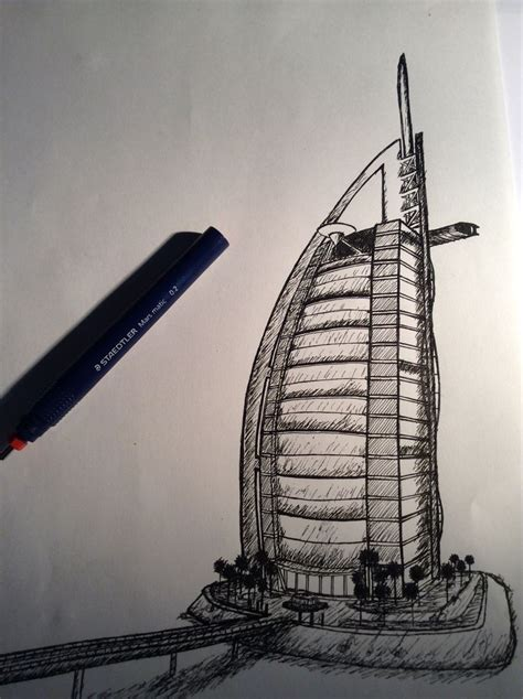 3d tattoo in dubai pictures burj khalifa pen drawing drawings art gallery