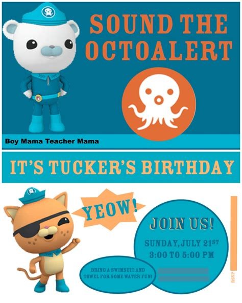 octonauts templates boy an octonauts birthday boy