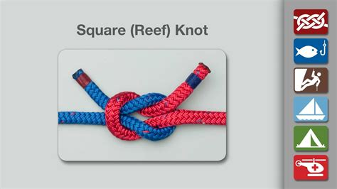 How To Make Square Knots - square knot how to tie a square knot reef knot
