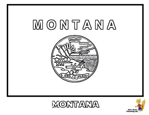 montana state colors gallant state flags coloring idaho montana free