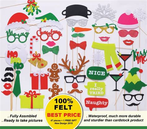 design photo booth props new design 2015 47 pcs christmas photo booth props 100