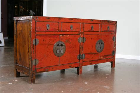 A Chinese Red Lacquer Sideboard Buffet At 1stdibs Asian Sideboards And Buffets