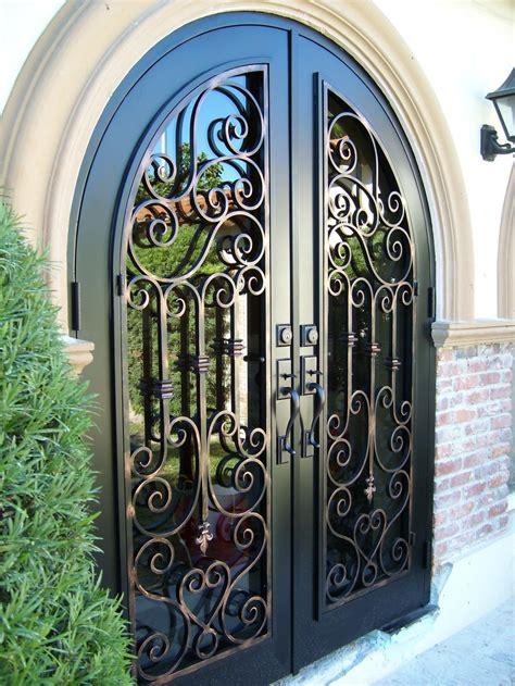 beautiful pedestrian gates wrought iron doors front