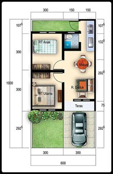 koleksi denah rumah type  minimalis nyaman