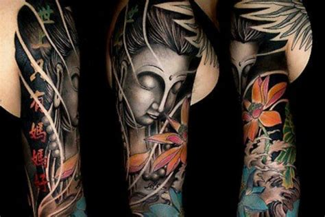 buddha sleeve tattoo ideas pinterest buddha tattoo