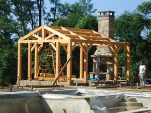 Outdoor Stone Fireplace Kits - post and beam pool house the post and beam