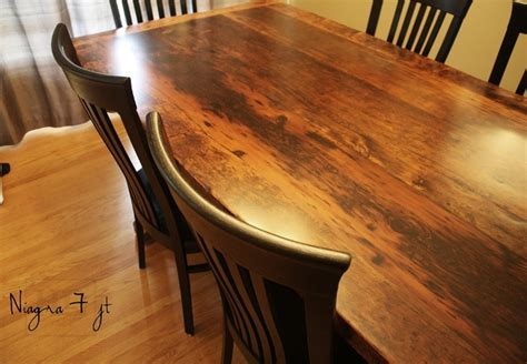 how to finish a table top with polyurethane 7 ft reclaimed wood table