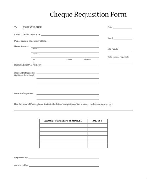 cheque request form template employee requisition form resume template sle