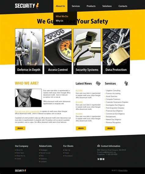 Information Security Website Template 37698 Information Web Template