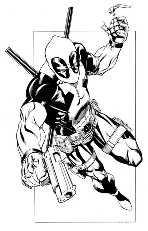 deadpool coloring book coloring pages of deadpool comic book coloring pages