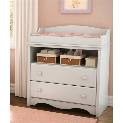 South Shore Andover Pure White Baby Changing Table Ebay White Changing Table