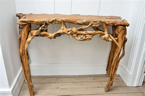 driftwood sofa table driftwood console table at 1stdibs