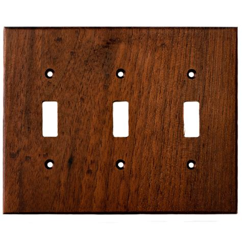 black light switch covers black walnut wood wall plates 3 light switch cover