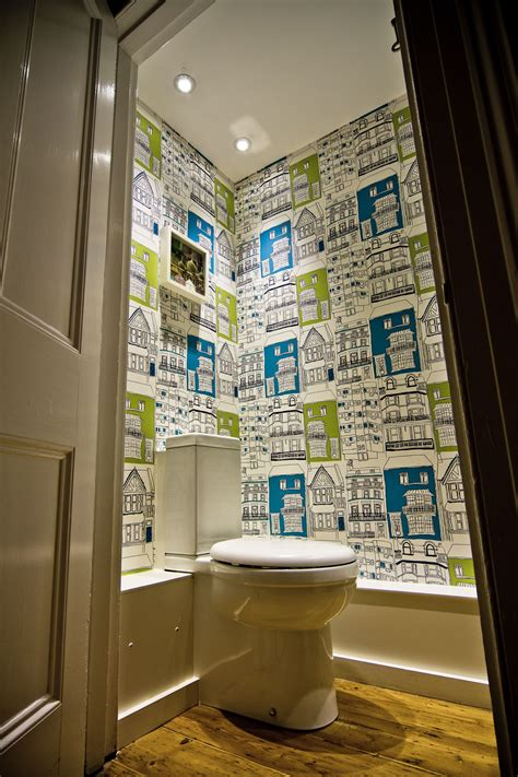 funky bathroom wallpaper ideas colourful quirky cloakroom the brighton bathroom