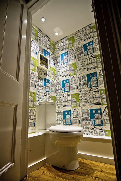 funky bathroom wallpaper ideas colourful cloakroom the brighton bathroom company декор brighton