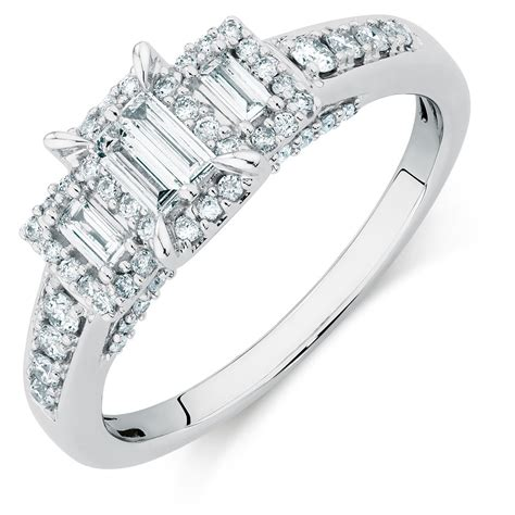 3 Engagement Ring by Three Engagement Ring With A 1 2 Carat Tw Of
