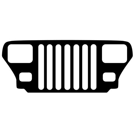 jeep grill drawing clip art jeep grills y9sd53a